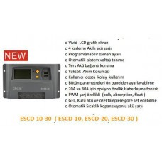 regülatör solar charger  escd 30 ah